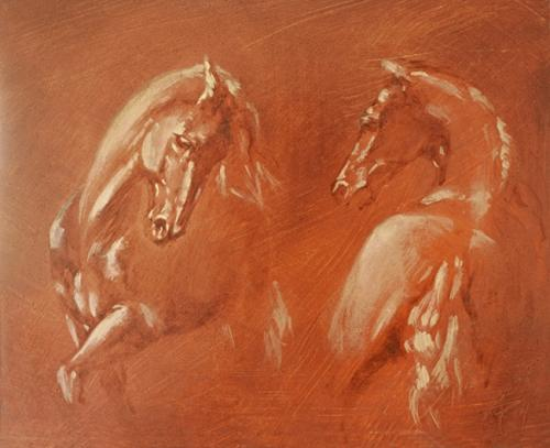 Ocre-rouge-horses