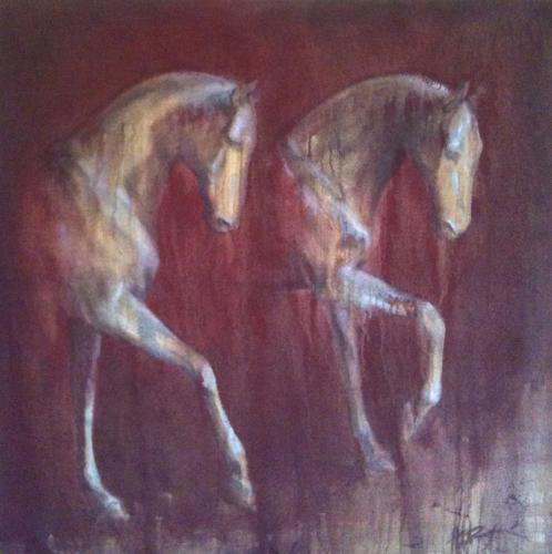 Peinture-chevaux
